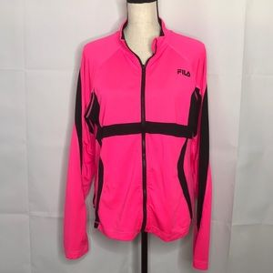 9b379476bdd0 Women s Pink Fila Jacket on Poshmark
